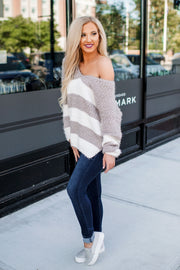 Hadley Striped Sweater (Mocha)