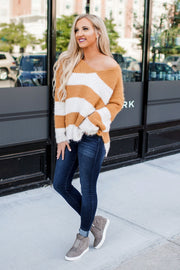 Hadley Striped Sweater (Mustard) FINAL SALE
