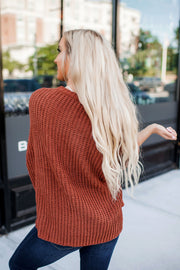 Sedona Knit Sweater (Rust)