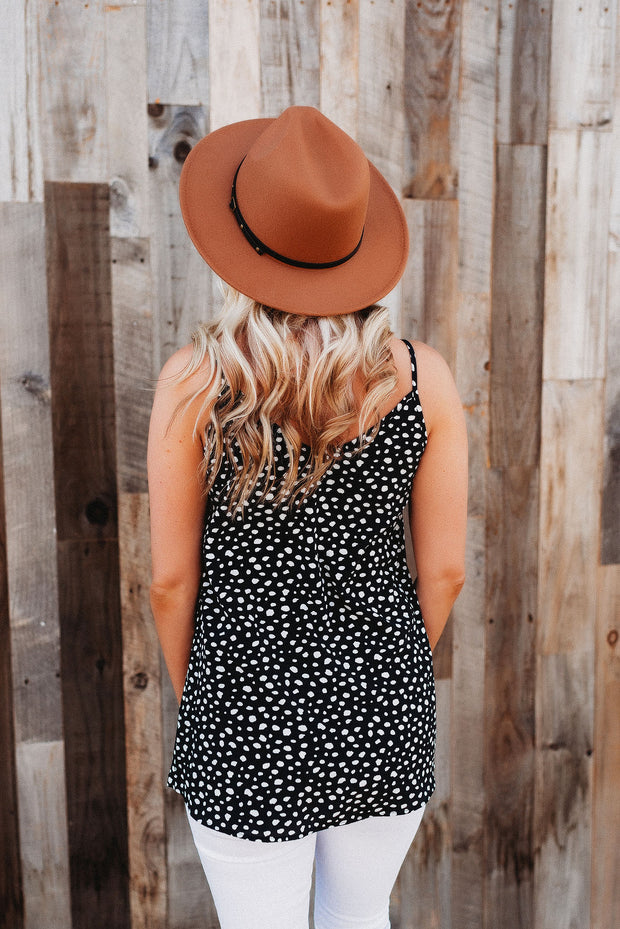 Dotted Darling Tank (Black)