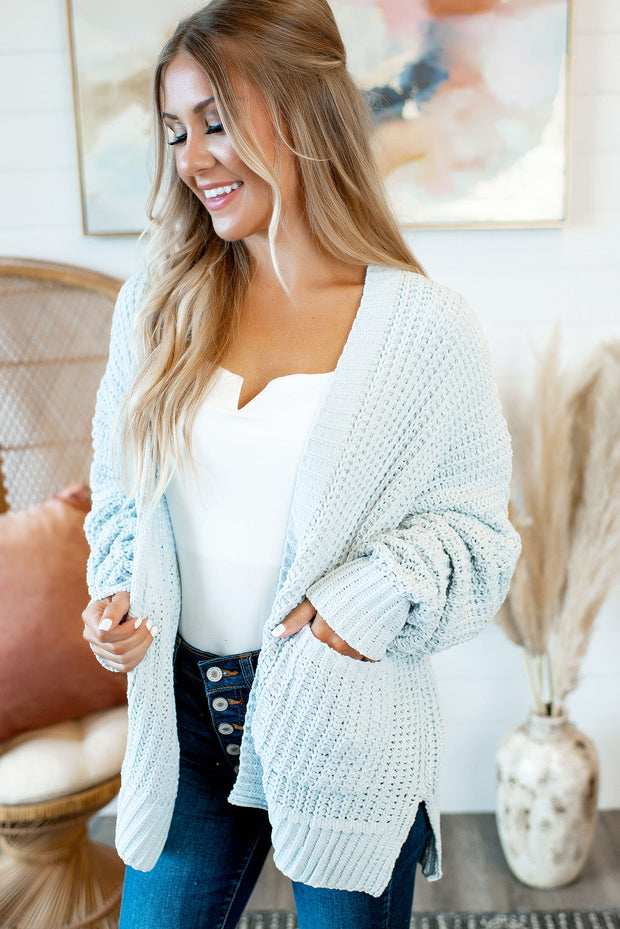 Couch Potato Knit Cardigan (Mint)