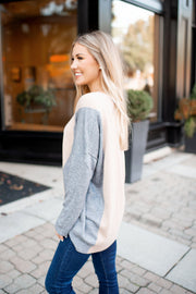 Hot Cocoa Color Block Sweater (Charcoal)