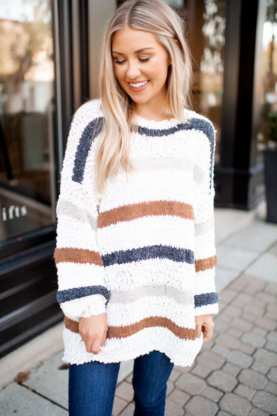 Falling Into You Striped Sweater FINAL SALE