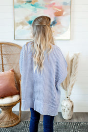 Couch Potato Knit Cardigan (Periwinkle)