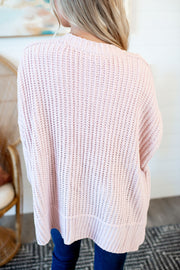 Couch Potato Knit Cardigan (Blush)