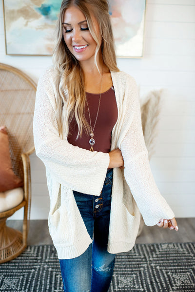 The Kayla Knit Cardigan (Beige)