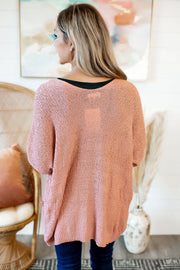 The Kayla Knit Cardigan (Marsala)