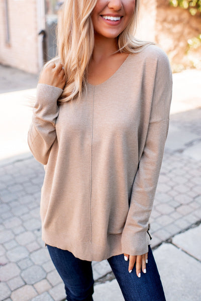 All The Good Things Sweater (Tan) FINAL SALE