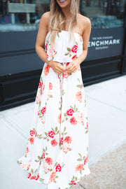 Bloom From Within Floral Maxi (Ivory)