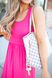 Modestly Posed Racerback Maxi (Hot Pink)