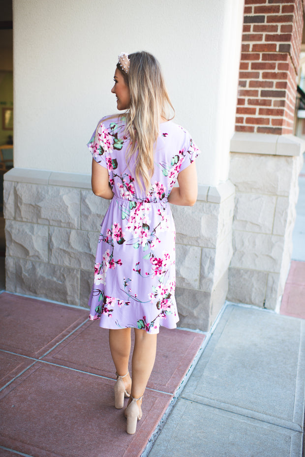 Caught In The Moment Floral Dress (Lavender)