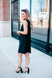 The Donna Pleated Dress (Black)