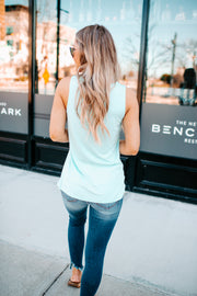 It's Time Criss Cross Tank (Mint)
