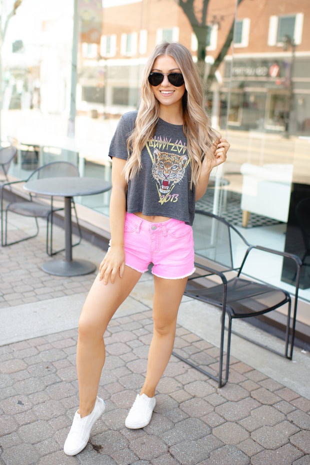 The Polly Denim Shorts (Pink)