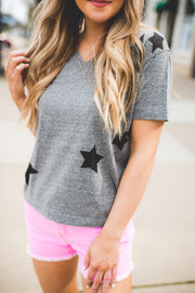 Make A Wish Star Tee (Grey)