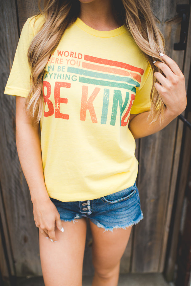 Be Kind Graphic Tee (Yellow)