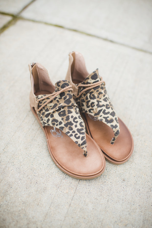 Very G Sparta Sandals (Tan Leopard) FINAL SALE