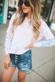 Twirled Up Tie Dye Pullover (Ivory)