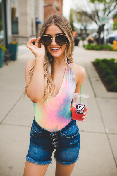 The Skye Tie Dye Bodysuit