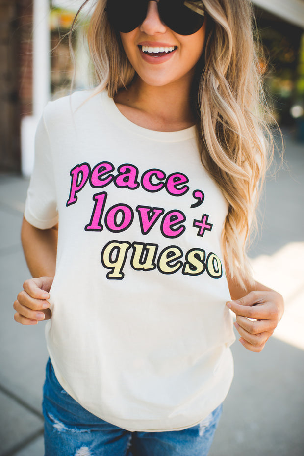 Buddy Love Peace Love Queso Tee