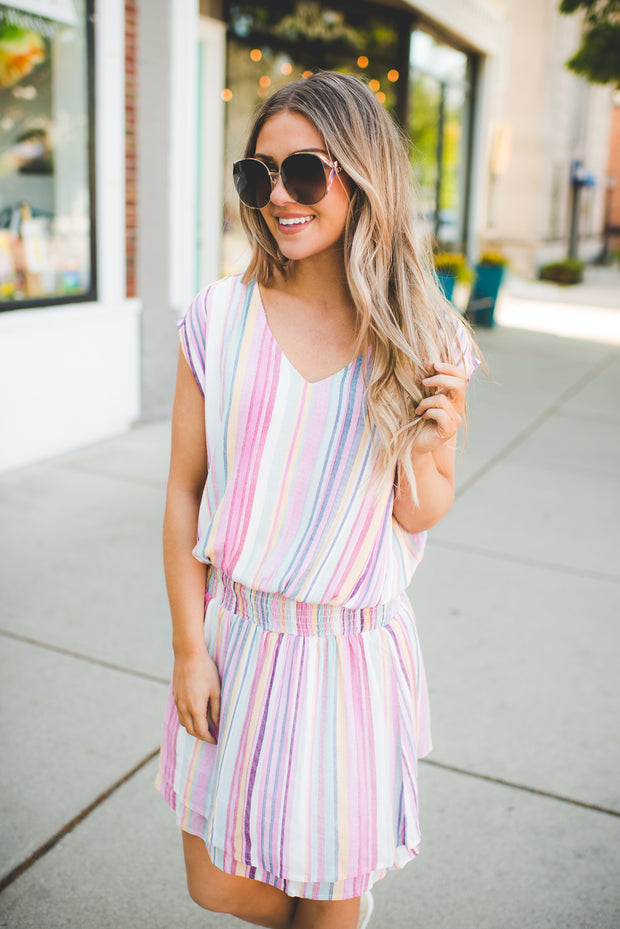 Watermelon Sugar Striped Dress FINAL SALE