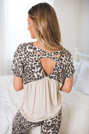 Leopard Lounge Set (Brown)