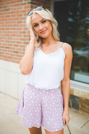 Spotted Swing Shorts (Lavender)