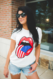 Tongues Out For America Tee (Ivory)