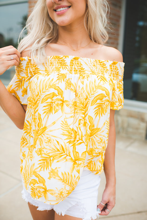 Lost In Paradise Top (Mustard) FINAL SALE