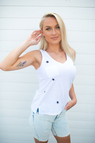 Z Supply Sunset Star Tank (White)