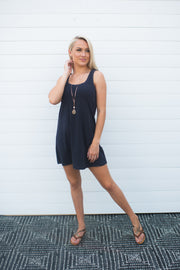 Z Supply Avery Jersey Dress (Washed Black)