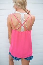 The Tatiana Criss Cross Tank (Coral)