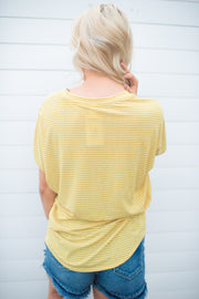 Sunshine In Stripes Tee (Mustard)