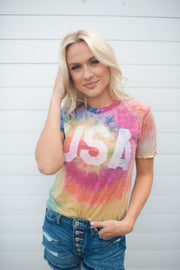 Muted USA Tie Dye Tee FINAL SALE