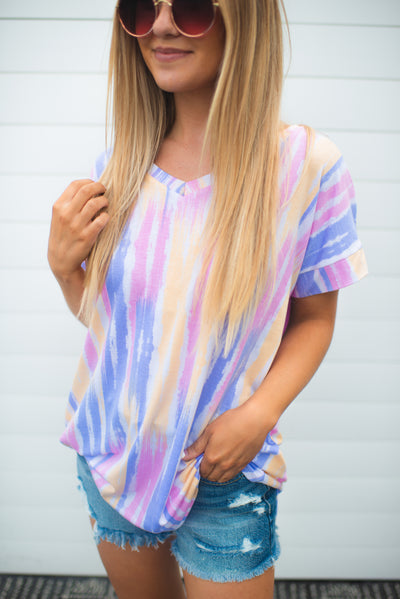 Dream In Color V-Neck (Lavender/Pink/Yellow)