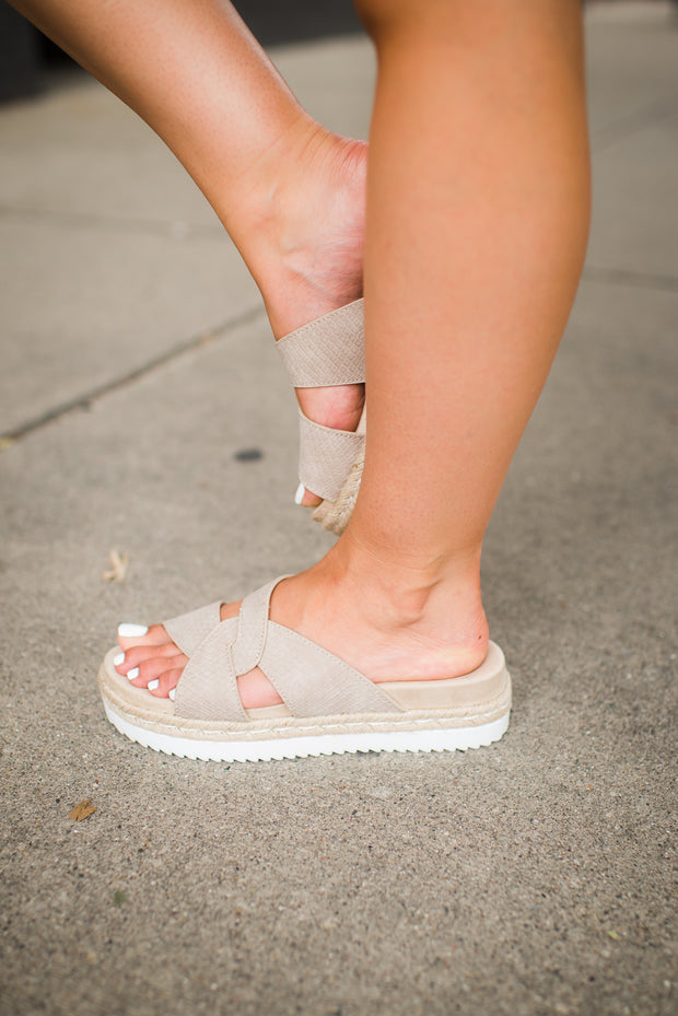 Very G Elvina Sandals (Cream) FINAL SALE