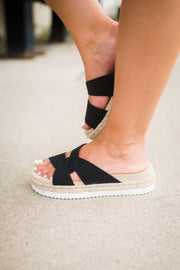 Very G Elvina Sandals (Black) FINAL SALE