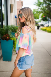 Sorbet Kisses Cold Shoulder (Pastel) FINAL SALE