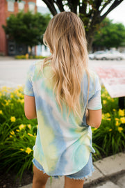 The Tori Tie Dye V-Neck (Mint) DEAL OF THE DAY! FINAL SALE!