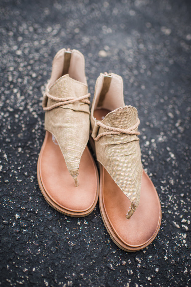 Very G Sparta Sandals (Tan) FINAL SALE