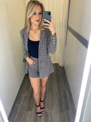 Chic Chick Blazer Set (Charcoal)
