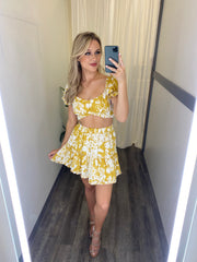 The Darleen Skirt Set (Yellow)