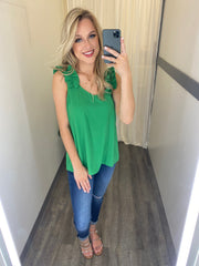 Sweet Beginnings Tank (Kelly Green)