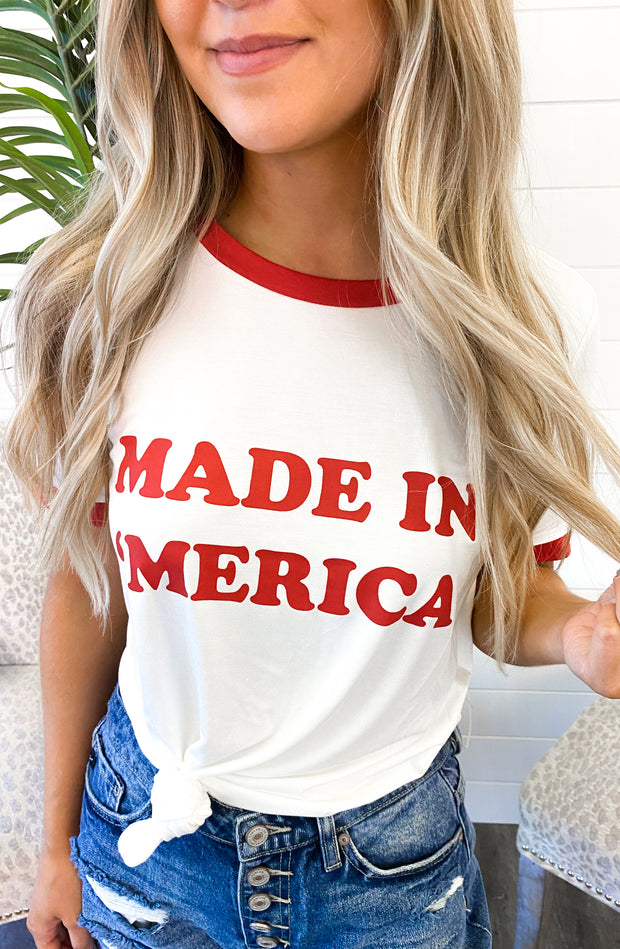 Made In 'Merica Tee (Ivory/Red)
