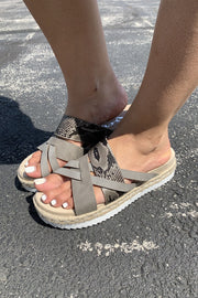 Very G Pam Sandals (Grey) FINAL SALE