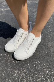 Gypsy Jazz Playful Sneakers (White) FINAL SALE