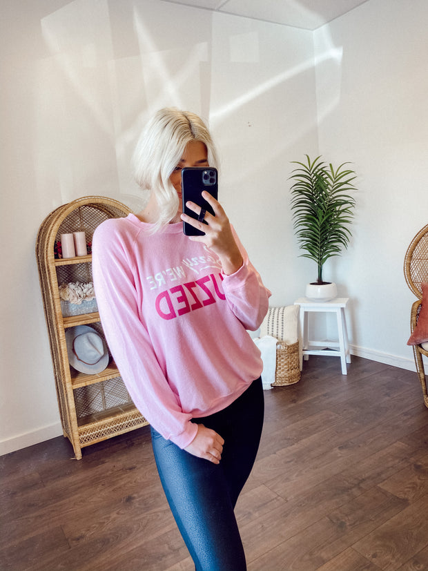 Buddy Love Buzzed Crewneck (Pink)