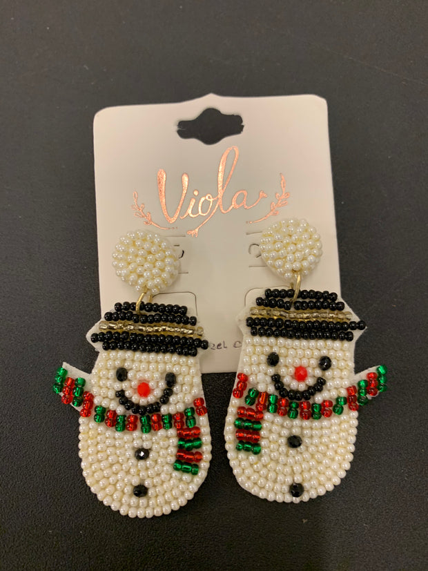 Beaded Christmas Earrings (3 Styles)