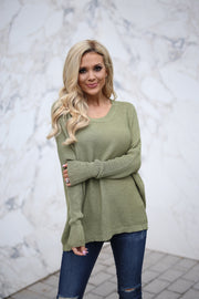 Slouchy Sweater (Moss)