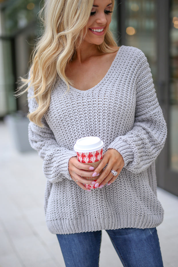 Reasons To Relax Sweater (Grey)